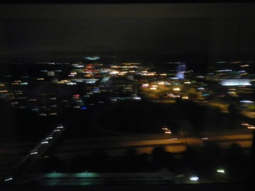view of Charlotte from our hotel room