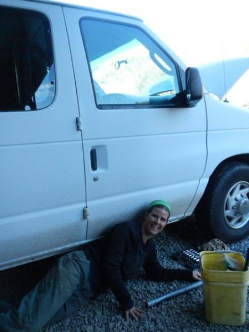Shiloh working on new van