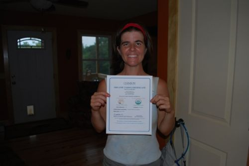 Tumbling Shoals Farm is certified organic!
