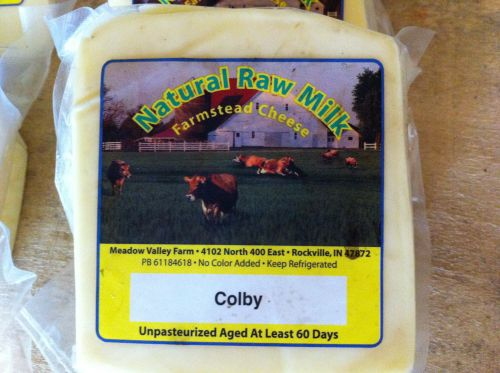 Colby raw milk cheese