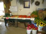 farmstand and flowers