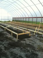 Growing troughs under construction. These will hold circulating water that have floating rafts that hold the growing produce plants.