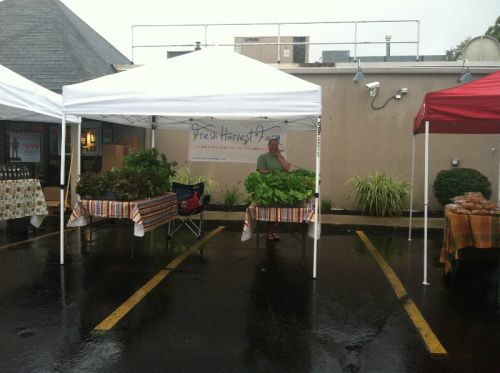 Yep, we're at the market even when it rains!