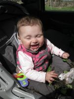 Amelia eating a baby cabbage plant