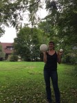 Maria with Giant Puffball Mushroom