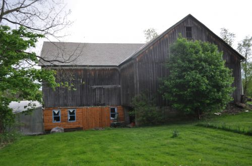 Historic barn-new door, windows