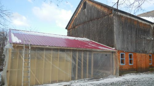 First Snow on new Packing Shed
