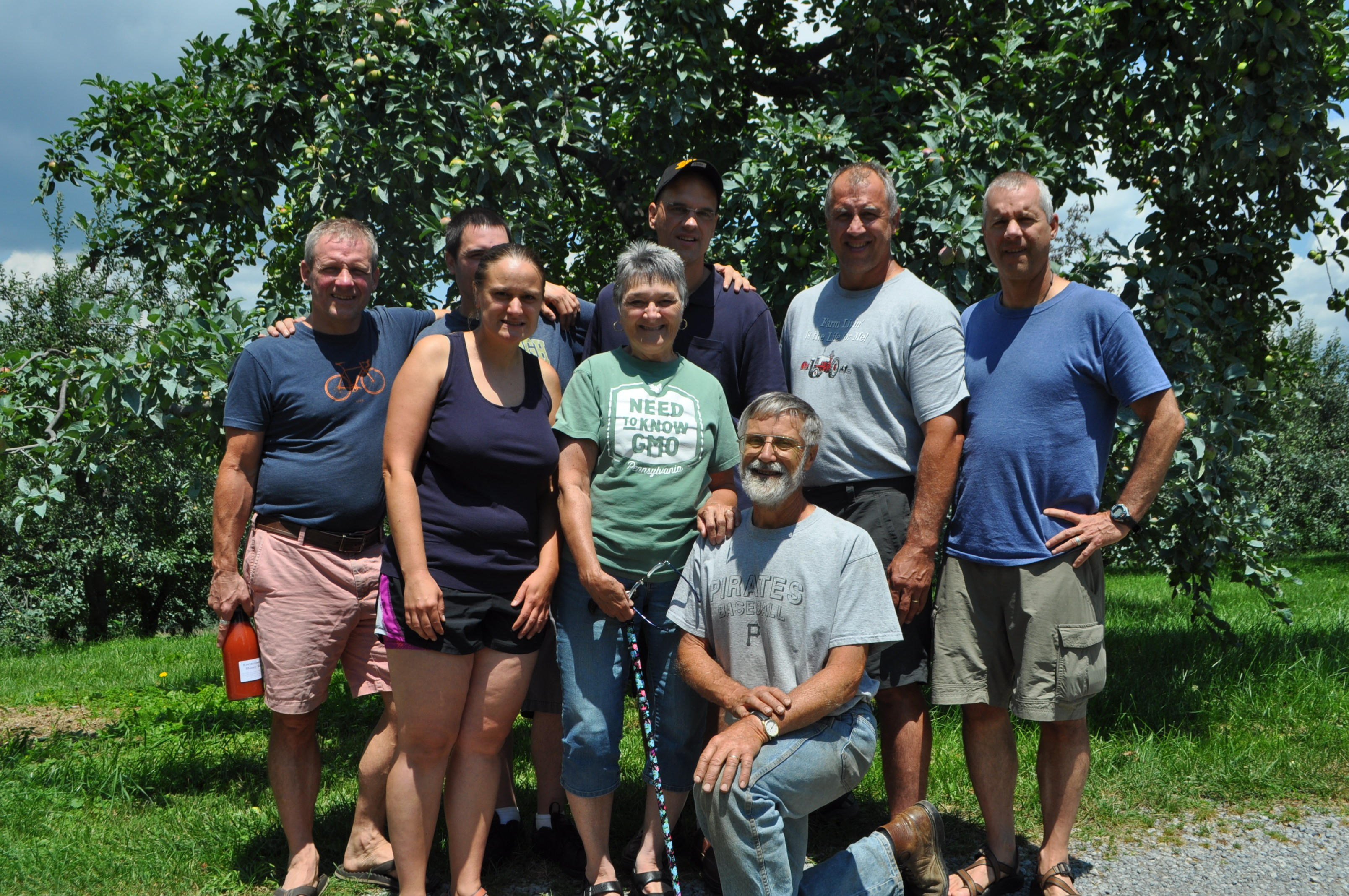 Walshes who Planted Orchard '85