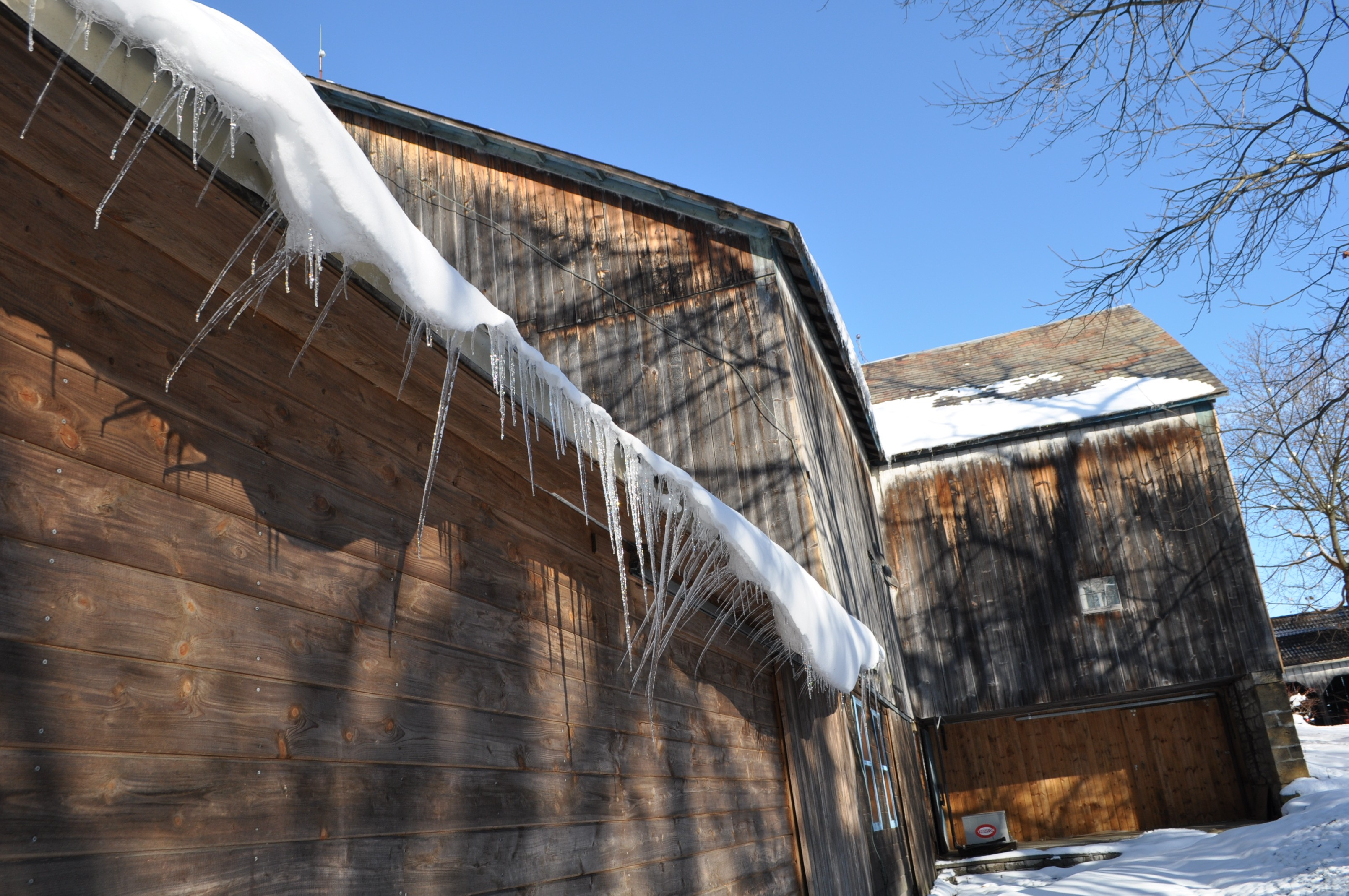 Wind blown Icicles