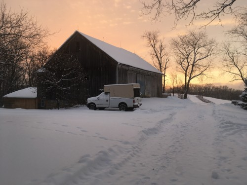 Snowy Sunset Jan 18