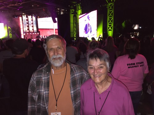 Don & Becky enjoying Farm Aid Concert