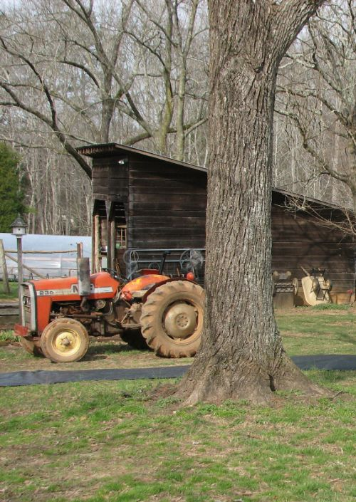 Tractor and tractor shed