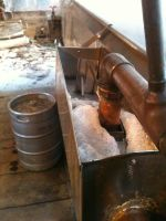 Sap into the evaporator