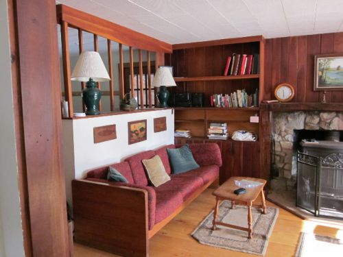 Play room with fireplace