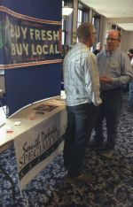 SDSPA President Pat Garrity meets and greets at Sioux Falls' Washington Pavilion Ag Day, March 2014