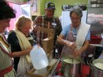 Enjoying learning at Merryl Winstein's Cheesemaking Class, St. Louis, MO