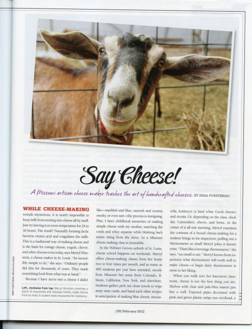 Merryl Winstein in Missouri Life Magazine, Feb/March 2012 pg 59