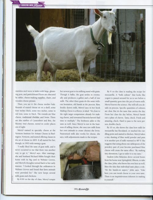 Merryl Winstein in Missouri Life mag, Feb-2012, p60