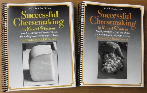Successful Cheesemaking®™ book ©Merryl Winstein, Vol 1 & Vol 2 covers