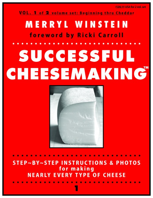 Successful Cheesemaking™ book, ©Merryl Winstein, 4 spreads, cheesemaking book, cheese making book