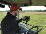 Jake using a GPS system for his soil sampling business