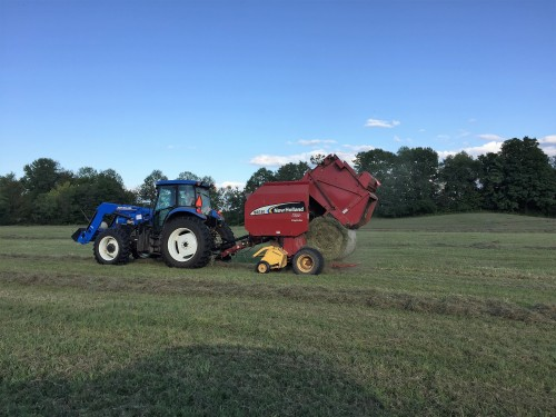 Baling hay on the home farm 2017