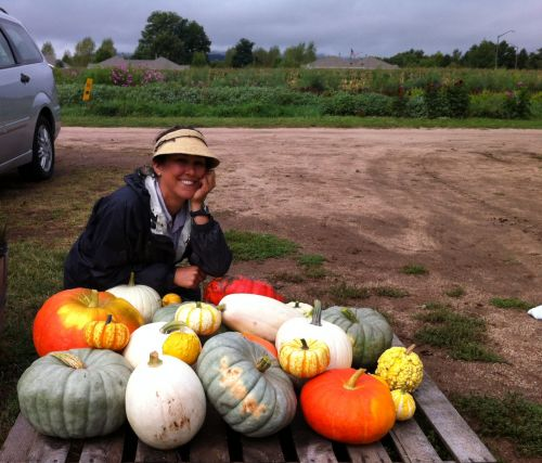 Tara and her Pumpkins!