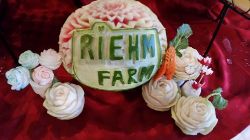 A work of Art created at the June 25 Farm to Fork Dinner Event