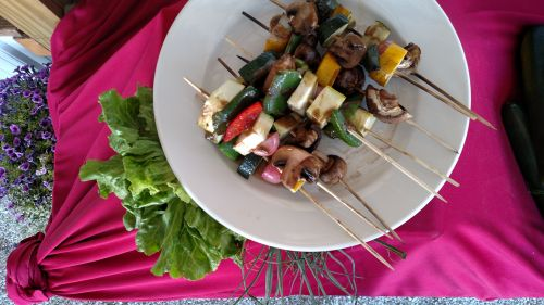 Veggie Skewers grilled to perfection