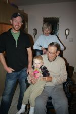Son Sean, Grandson Sawyer, Father David and Mother Mary Rendleman