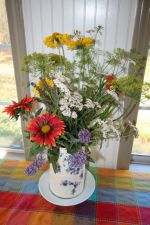 Summer bouquet on sunporch