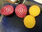 Chioggia and Gold Beet sliced