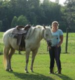 Horse back rides in the round pen