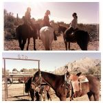 On Christmas vacation, we went horseback riding. Left to right is Lindsey (Adam's sister), Cindy (Adam's mom), and myself- thanks for the great pic Linds!