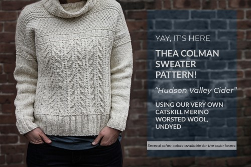 The wonderful and talented Thea Colman has just released her latest sweater  pattern and it is a beauty! We are proud to say Thea used our worsted wool  on ... c1f69399d