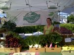 "Priscilla helping run our ""BAE"" Farmer's Market stand"