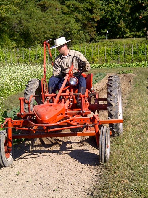 Making raised beds with the 1953 Allis Chalmers model G