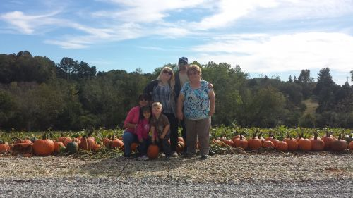 Our first official customer (and new friends) of out 2015 retail pumpkin season.  Thank you for your visit and for making memories with your pumpkin tradition with us.