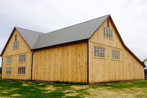 The August Barn Company restored our barn and gave it life once again.  It will soon be GREEN once again this June.