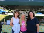 Patty, Frances and Karen at Murphy Farmers Market, the Three Sisters Apalache Agriculture team August 2015