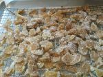 Homemade Qualla Berry Farm candied organic ginger