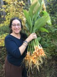 Karen with first turmeric bunches