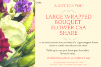 Large Flower Share, Gift Certificate