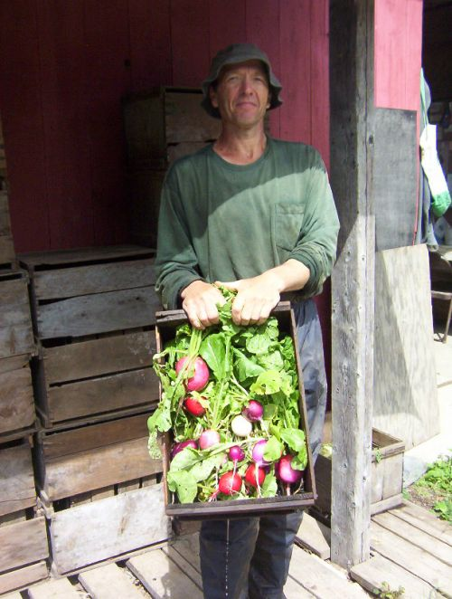 Anthony, our long-time vegetable farmer