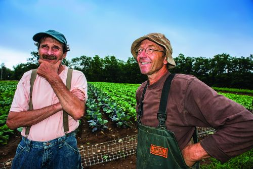 Lincoln Geiger (left) and Anthony Graham: founding farmers of TWCF
