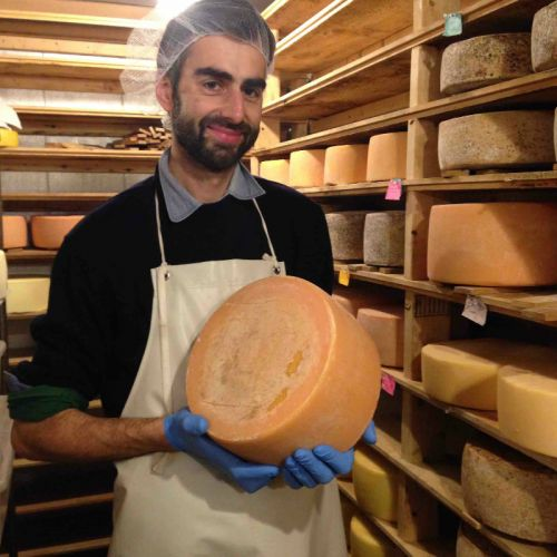"""Benjamin Meier, our cheesemaker  and """"tender of the wheels."""""""