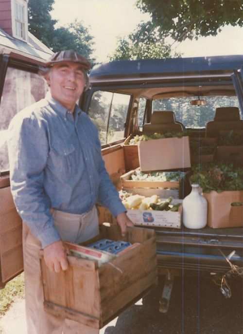 One of our founding farmers, Trauger Groh, in the early days of the TWCF.