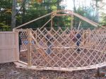 Yurt raising in PA.