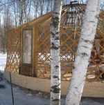Frame of yurt