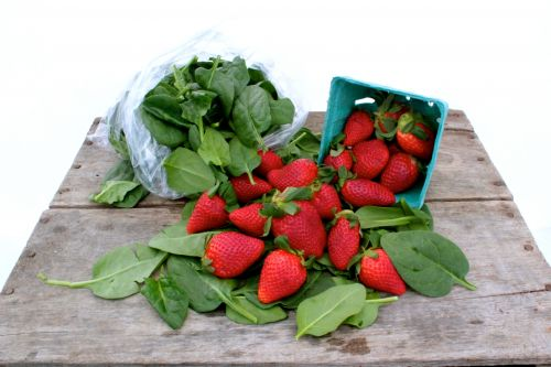 Spinach & Strawberries